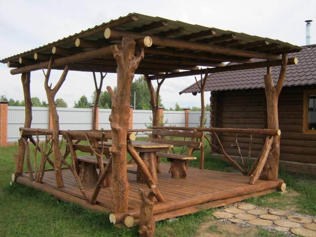 Беседки деревянные сделанные фото