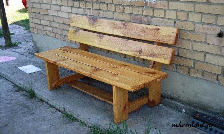 Как сделать скамейку на даче своими руками