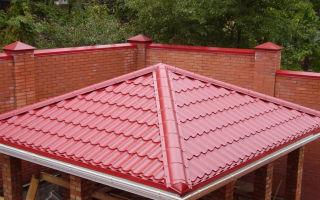 Крыша для беседки своими руками — выбор конструкции и материалов