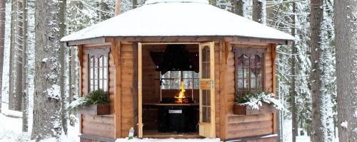 Зимняя беседка — варианты постройки