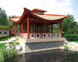 Беседка в китайском стиле сделанная своими руками