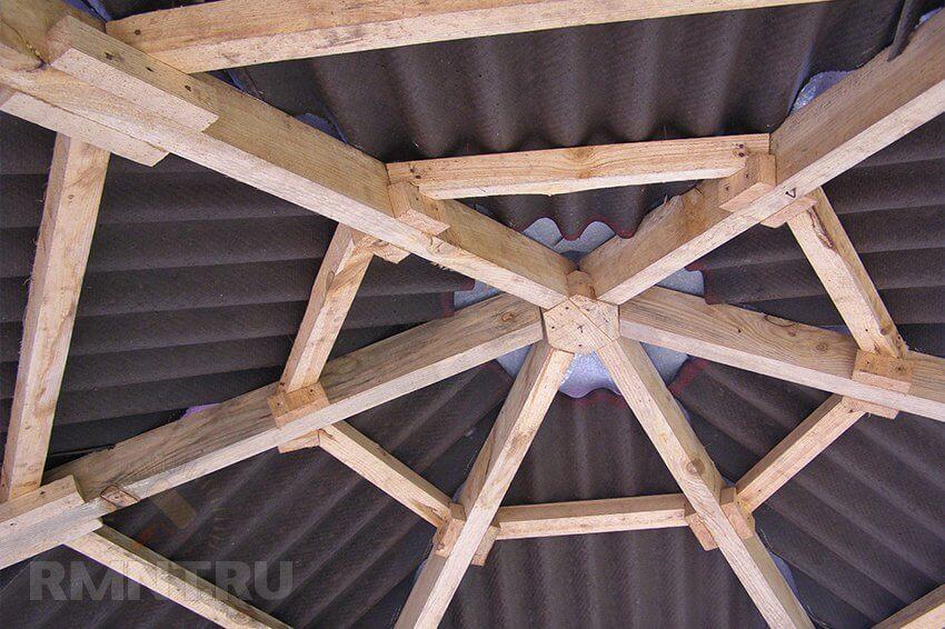 деревянная конструкция беседки