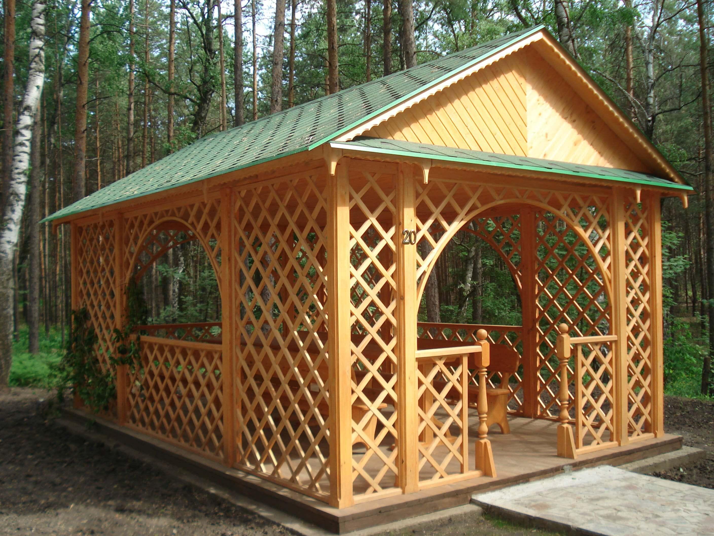 Строительство деревянных беседок своими руками