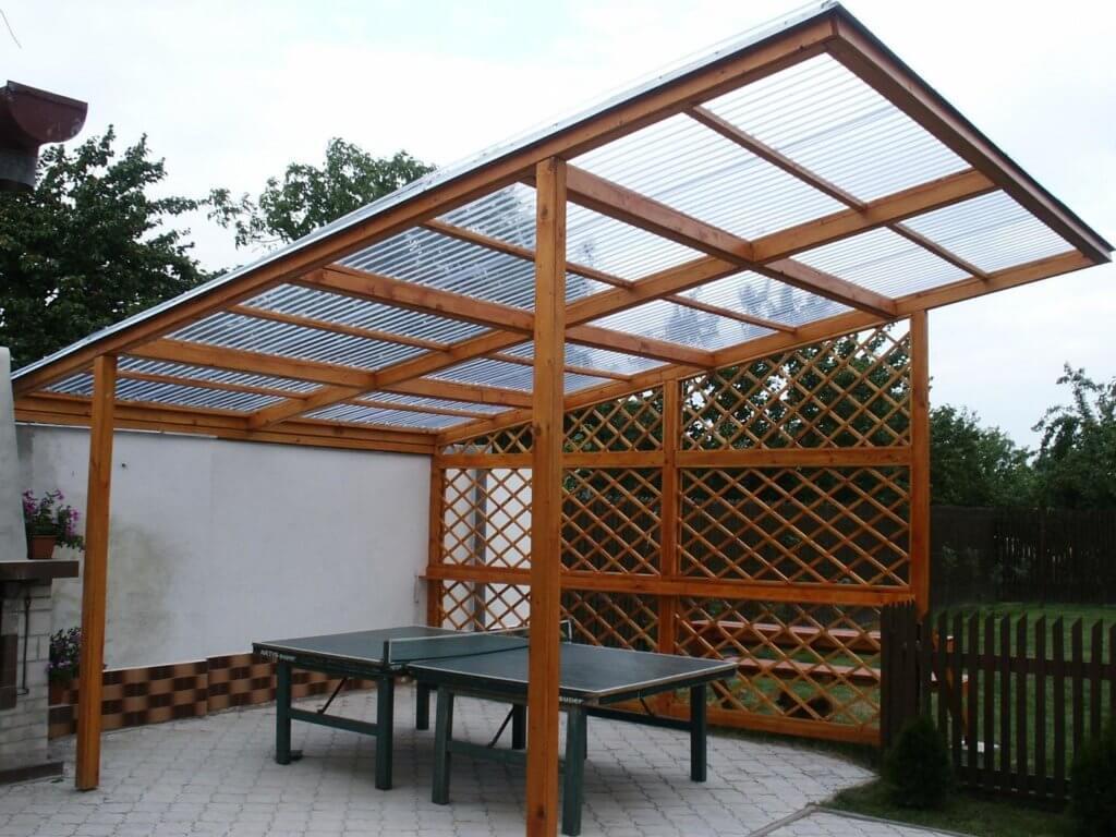 Вариант строительства крыши для беседки