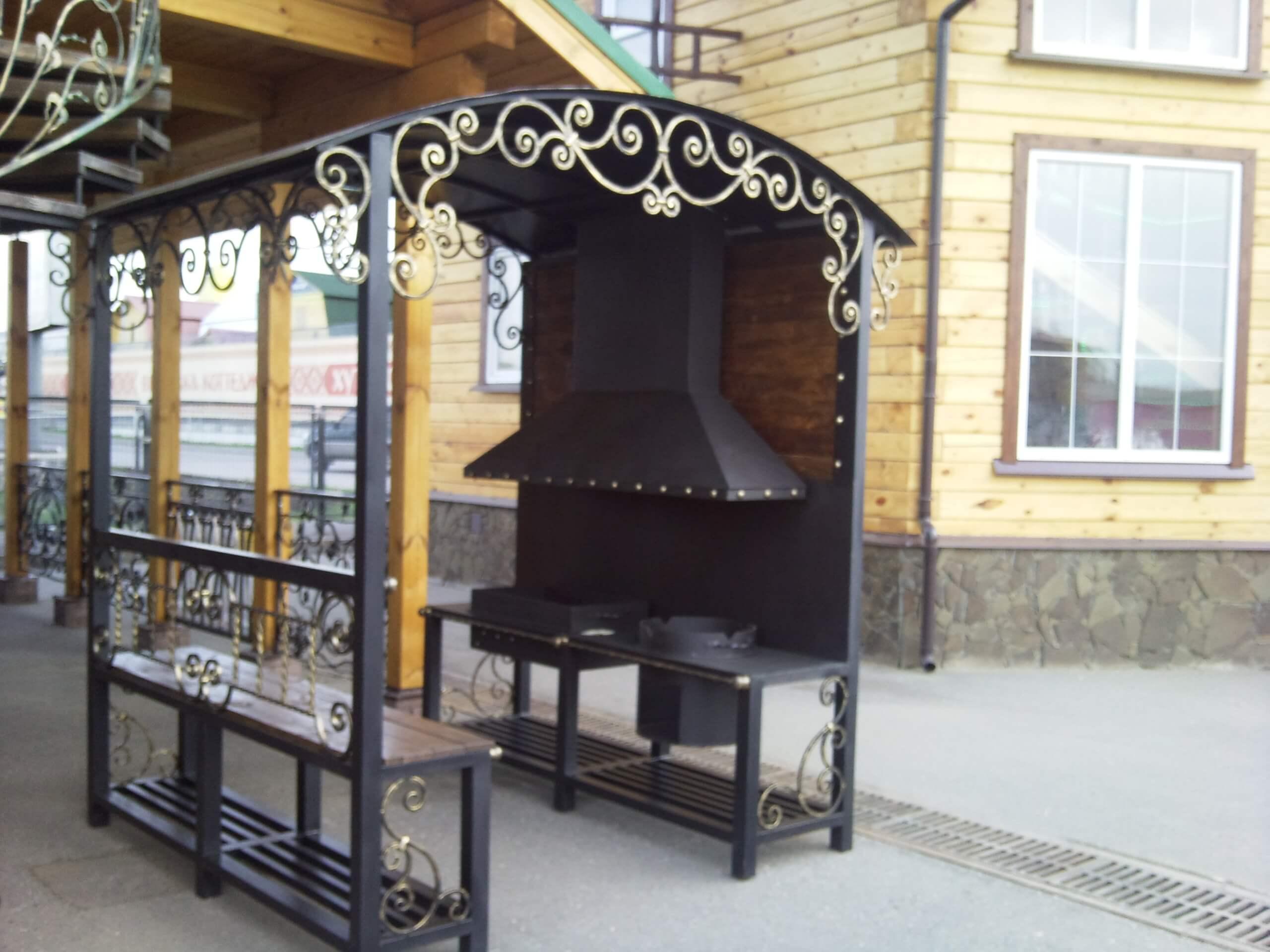 Купить мангал Киев стационарный мангал мангал с крышей