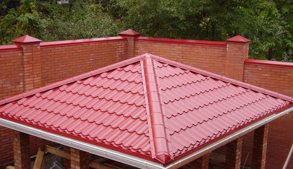 четырехскатная крыша