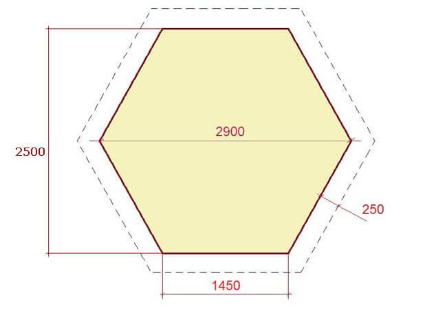 Беседка шестигранная своими руками чертежи и размеры фото 935
