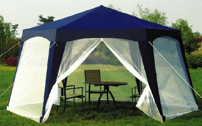 шатер с мебелью