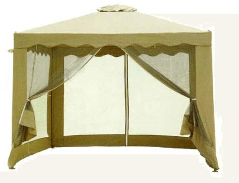 беседка палатка в постельных тонах