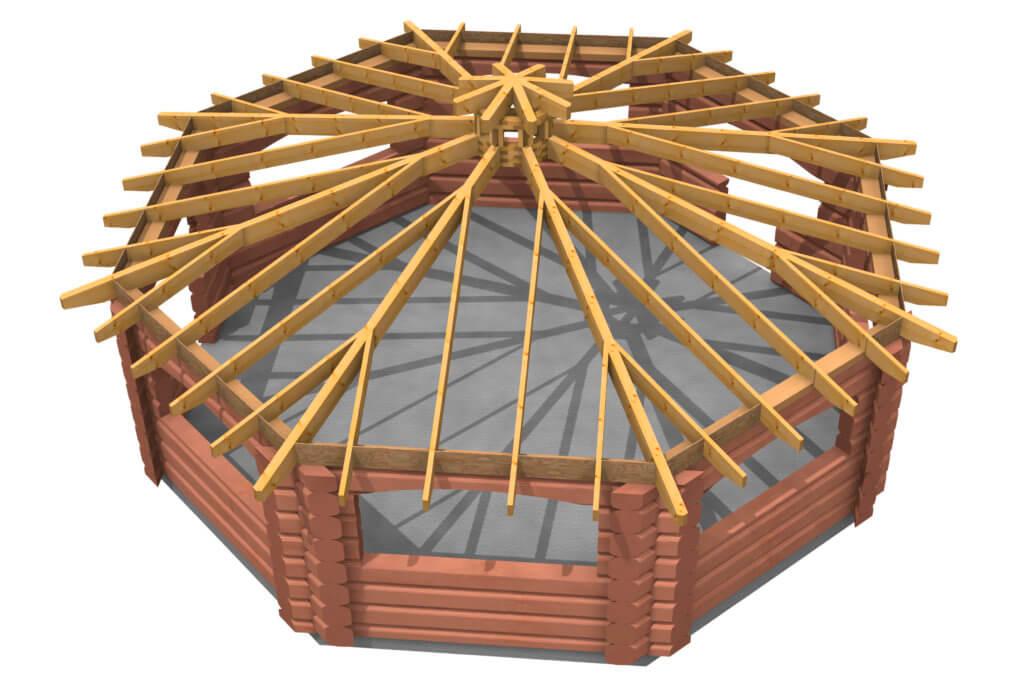 Крыша гриль-домика