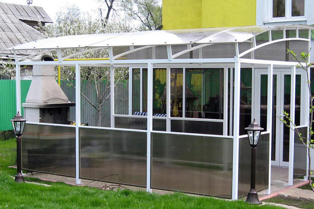 летняя кухня из поликарбоната